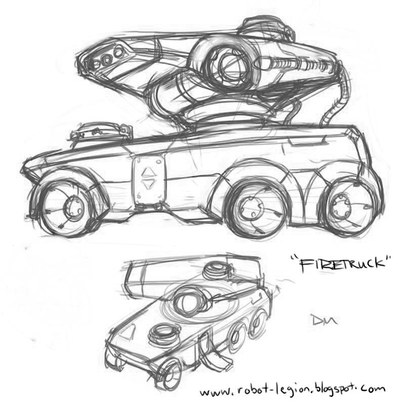 DSG 1074: Sci-Fi/Vehicular: FUTURISTIC FIRETRUCK IS TOTALLY DECKED OUT IN CHUNKY TECH
